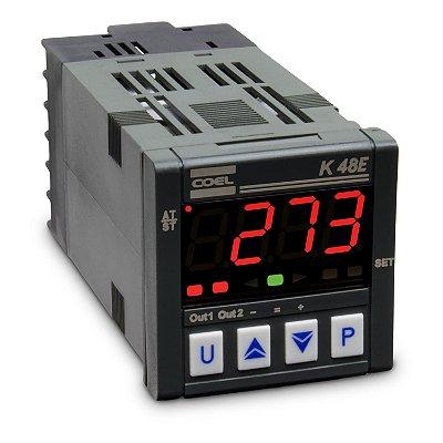 K48EHCOR-P CONTROLADOR DIGITAL DE TEMPERATURA 100 À 240VCA COEL
