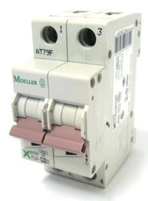 PLS4-C32/2-MW MINI DISJUNTOR 2P 32A 4,5KA CURVA C 243281 MOELLER EATON