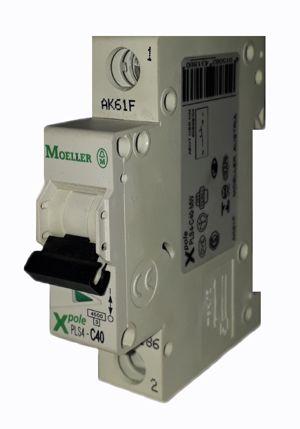 PLS4-C40/1-MW MINI DISJUNTOR 1P 40A 4,5KA CURVA C 243186 MOELLER EATON