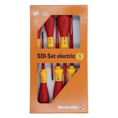 SDI SET S2.5-5.5/PH1/2 KIT CHAVES DE FENDA E PHILIPS WEIDMULLER CONEXEL 9009730000