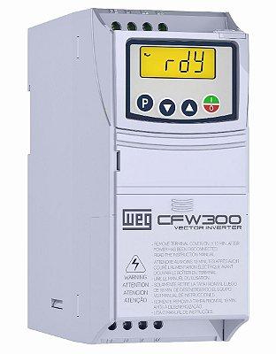 CFW300A04P2S2NB20 INVERSOR DE FREQUÊNCIA 1CV 220VCA MONOFÁSICO WEG 13059321
