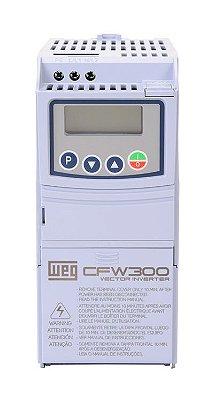 CFW300A02P6S2NB20 INVERSOR DE FREQUÊNCIA 0,5CV 220VCA MONOFÁSICO WEG 13059320