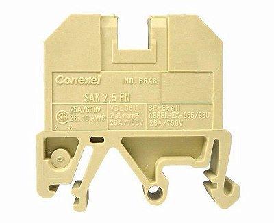 SAK 2,5 EN CONECTOR DE PASSAGEM (BORNE) C027996.0100 WEIDMULLER CONEXEL