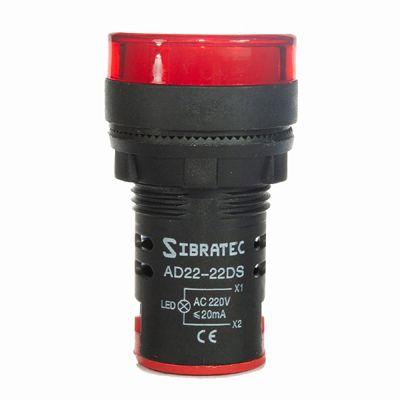 AD22-22DS SINALEIRO LED 22MM VERMELHO SIBRATEC