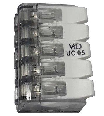 K001-425 450 UC05 CONECTOR DE ENGATE RÁPIDO 5 FIOS 4,0mm 7398 WECO