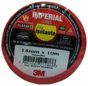 FITA ISOLANTE IMPERIAL 18MM X 10M COLORIDA 3M