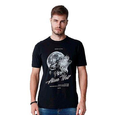 Camiseta Hiatto Masculina Estampa Lobo