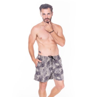 Short Hiatto Estampado Tactel Masculino