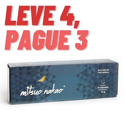 Capsulas Compatíveis Nespresso - Bourbon Vermelho - Leve 4, Pague 3.