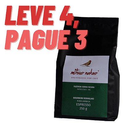 Café Mitsuo Nakao - Em grãos - 250 g - Leve 4, Pague 3.