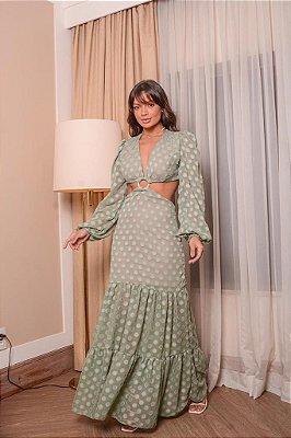 Vestido em Chiffon Lindíssimo - verde