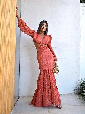 Vestido Feminino em Chiffon Lindíssimo - Rose