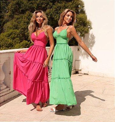 Vestido Longo Feminino Alice- verde