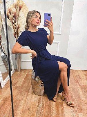 Vestido Luma - azul marinho