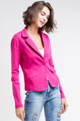 Blazer em bengaline na cor pink