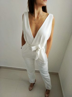 Macacão Style em linhão - Off white