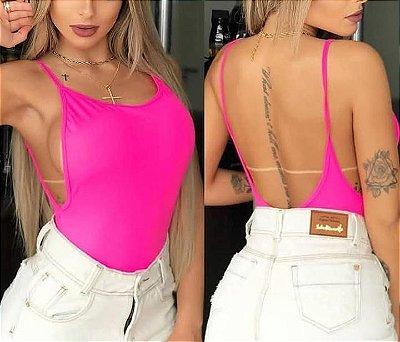Body cavado rosa neon