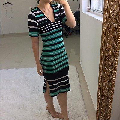 Vestido em modal Nayara - Verde água