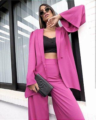 Maxi blazer kimono - Fúcsia
