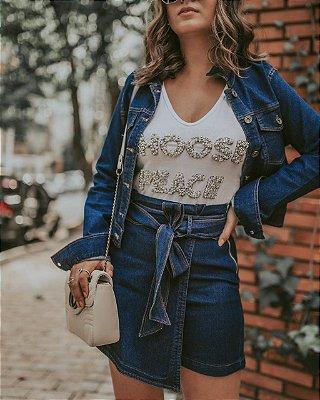 Jaquetinha jeans essencial