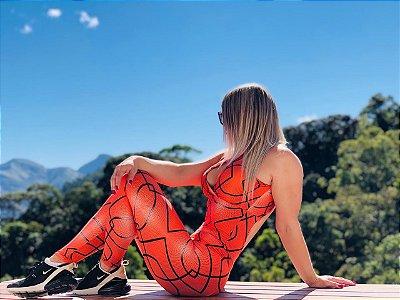 Macacão fitness levanta bumbum estampa Basquete