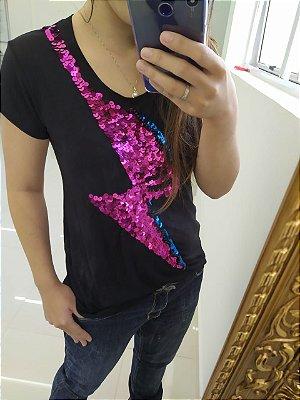 T-shirt bordada à mão - Bowie