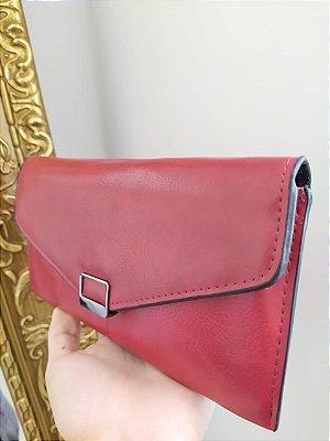 Carteira feminina fina - Red