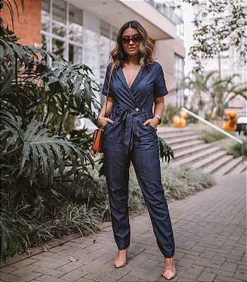 Macacão em jeans - Beatriz