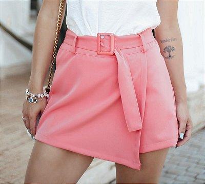 Short saia alfaiataria - Coral