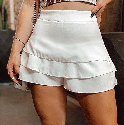 Short Saia Camadas -  Branco