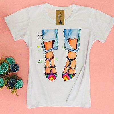 T-shirt estampada - Colorful Shoes