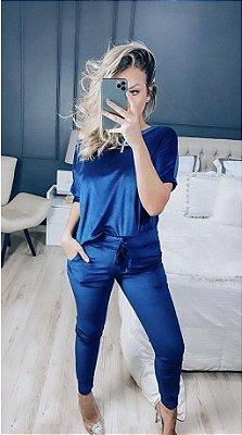 Conjunto Plush Naiane - Azul