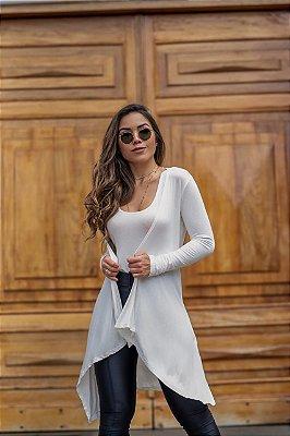 Cardigan + Regata fio soft - Branco