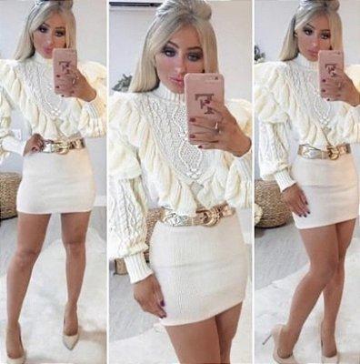 Tricot Luxo Bufante - Off White