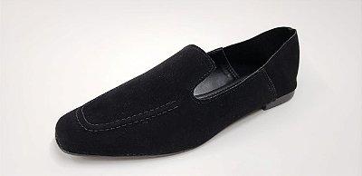 Loafer em nobuck preto