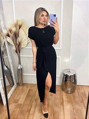 Vestido Viscolycra Mariah - Preto