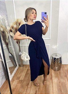 Vestido Viscolycra Mariah - Azul Marinho