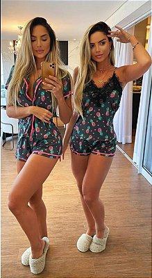 Pijama pineapple com camisa