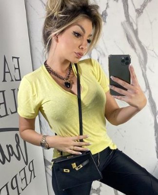 Tshirt Podrinha Amarela