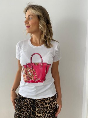 Tshirt pink bag and shoes