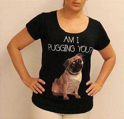 Tshirt preta com estampa PUG e material super premium