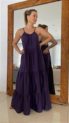 Vestido Longo Camadas - Uva