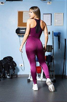 Conjunto  fitness legging e top  - Marsala Line