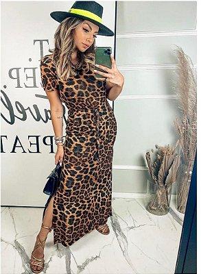 Vestido animal print - Letícia