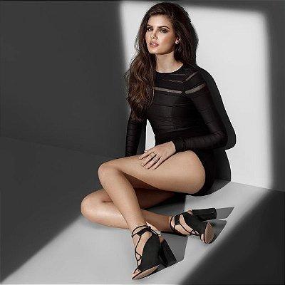 Sapato Vicenza preto acamurçado