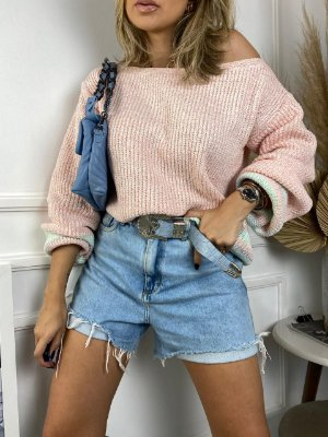 Blusa em tricot algodão doce