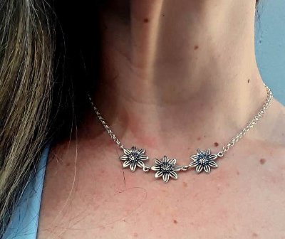COLAR CHOCKER DE PRATA SOLARE ESSENCE
