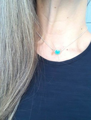 COLAR CHOCKER PONTO AZUL MARINER 10MM