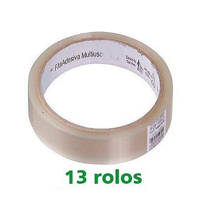 Durex 18X40 Transparente C/13 Rolos