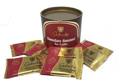 Lata Chocolate ao Leite Gourmet Gobeche - 10 tabletes 12g
